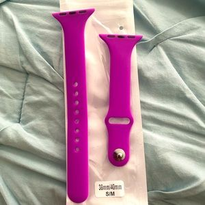 Silicone SKINNY Apple Watch band in Neon Purple!!!